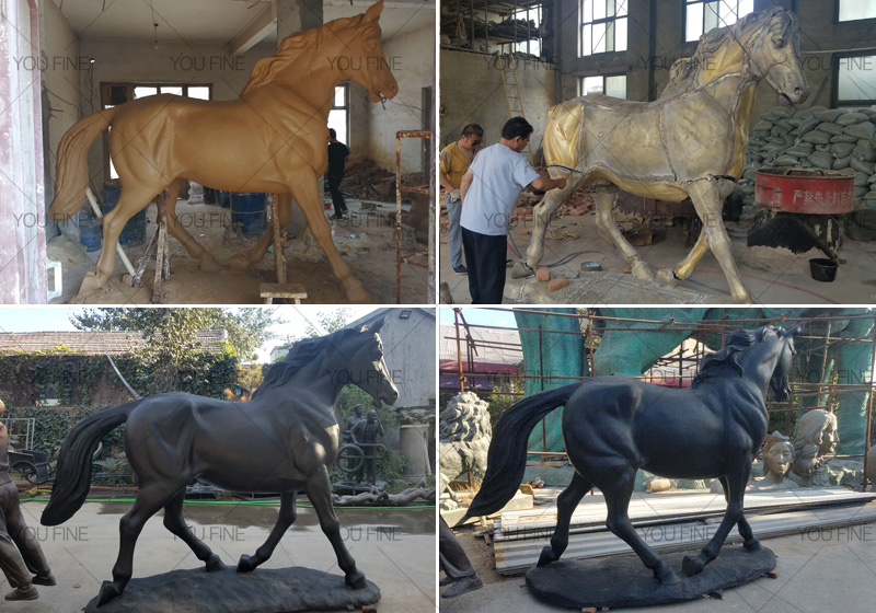 customize made bronze horse statues