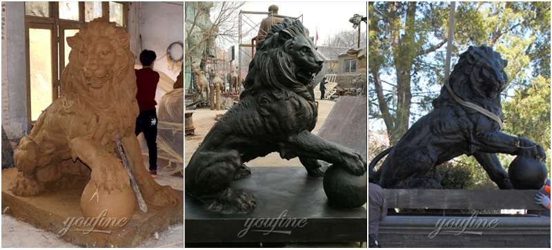 Customize made bronze lion statues