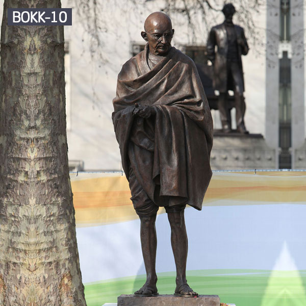 Bronze famous life size figure statues of Gandhi India for sale