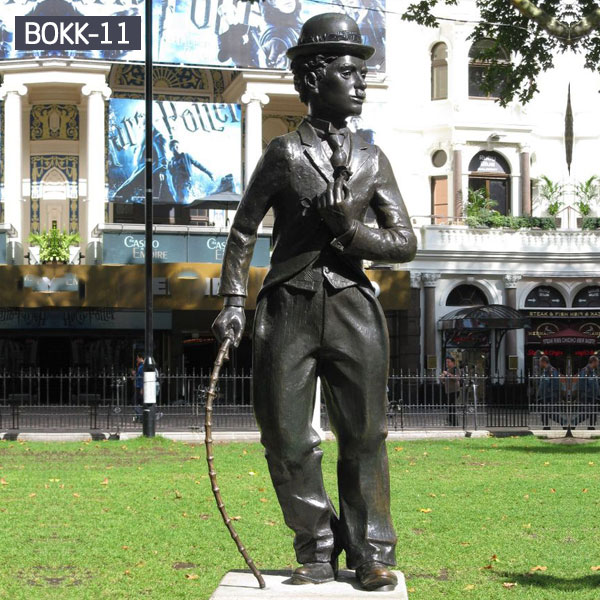 Bronze famous life size figure statues of Chaplin for sale
