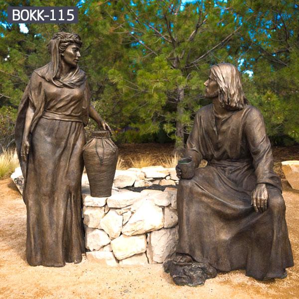Religious figure statues set for church garden outdoor