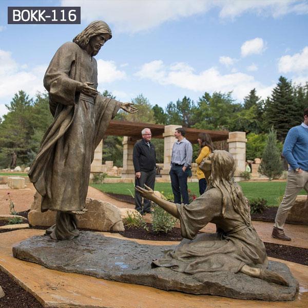 Religious garden statues of Jesus bronze art for sale