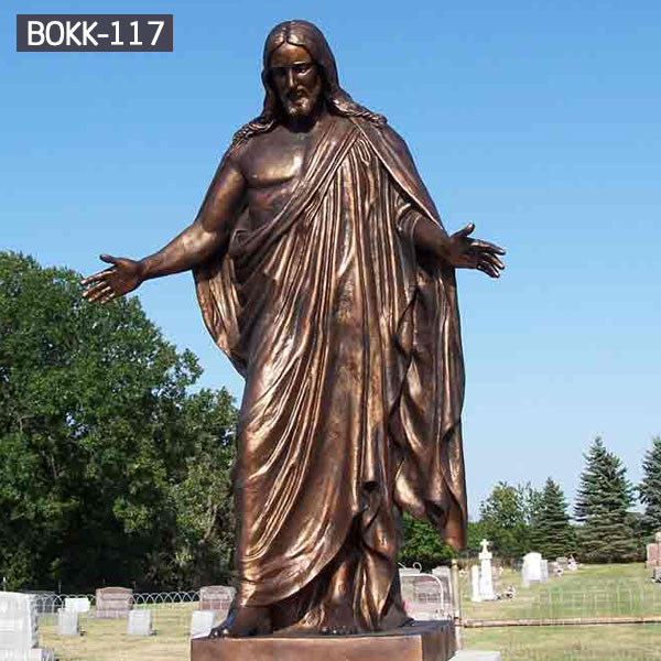 Catholic garden statues of bronze casting Jesus for sale