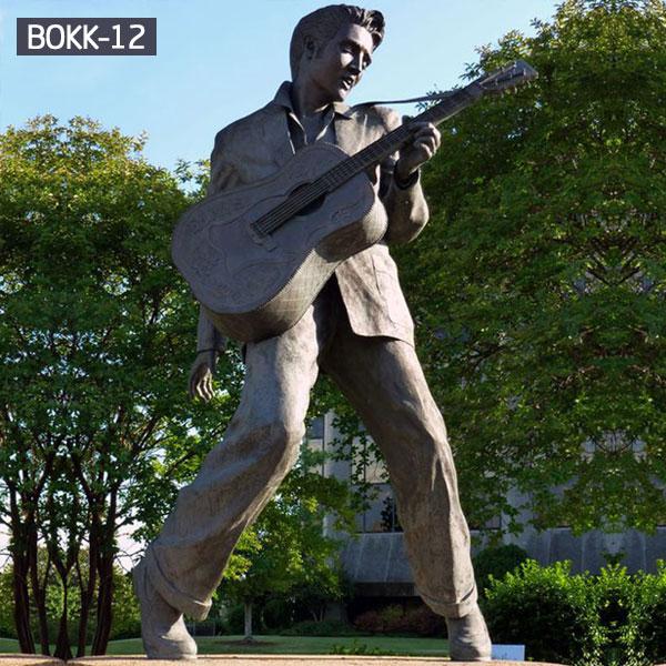 Bronze famous life size figure statues of Elvis Presley outdoor