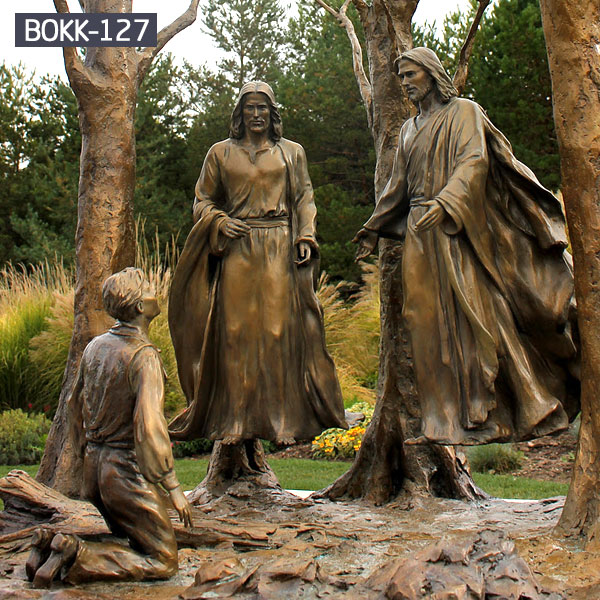 Bible story religious garden bronze casting statues
