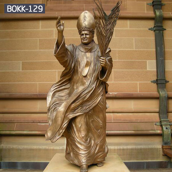 Metal bronze catholic pope statues for church decor
