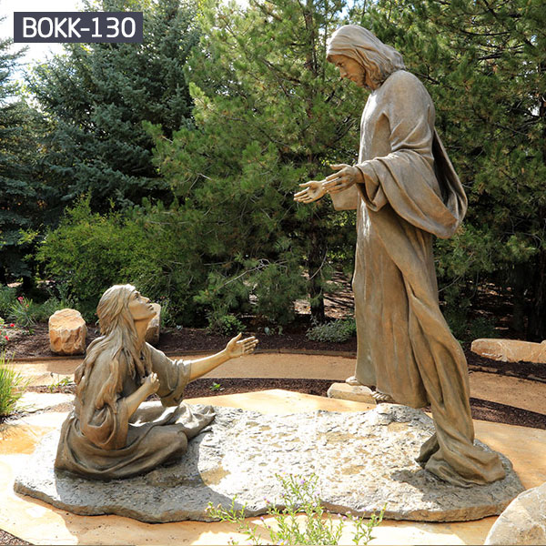 Religious garden outdoor bronze statues from Bible story for sale