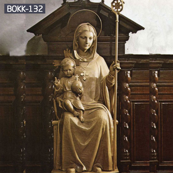 Buy bronze Mary and baby Jesus statues for church interior decor