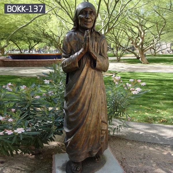 Catholic devout disciple bronze casting life size statues outdoor for sale