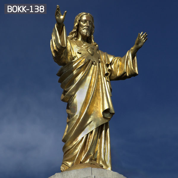 Sacred heart Jesus life size bronze outdoor statues for sale