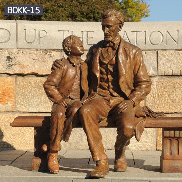 Bronze famous life size figure statues outdoor street decor