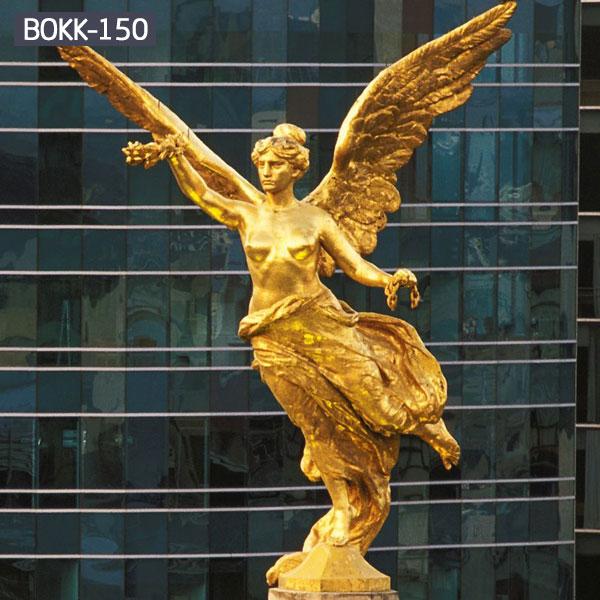 Large golden winged angel garden statues metal bronze art outdoor
