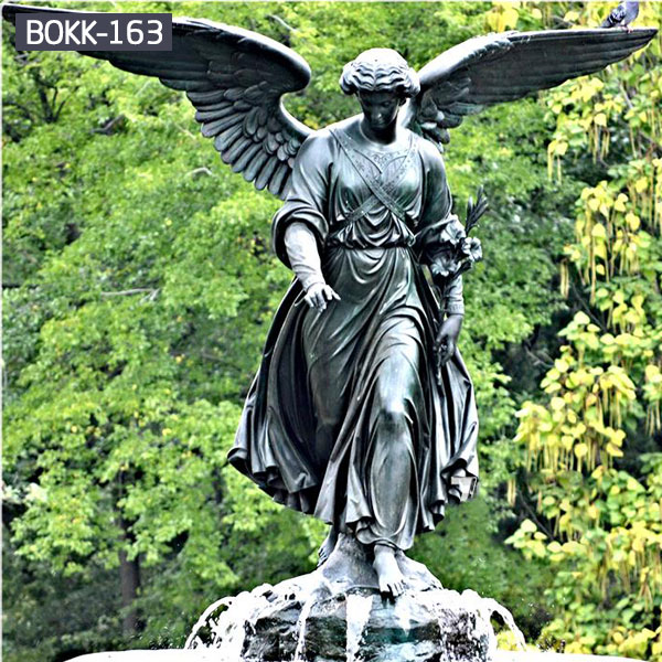 Large black angel with wings figurines statues for sale