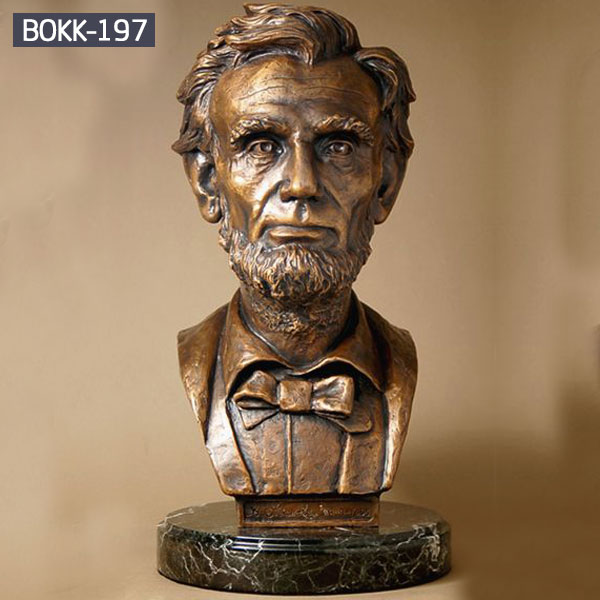 Bespoke bronze bust Abraham Lincoln head statues for sale