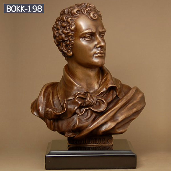 Custom make famous figure bust bronze head statues for sale