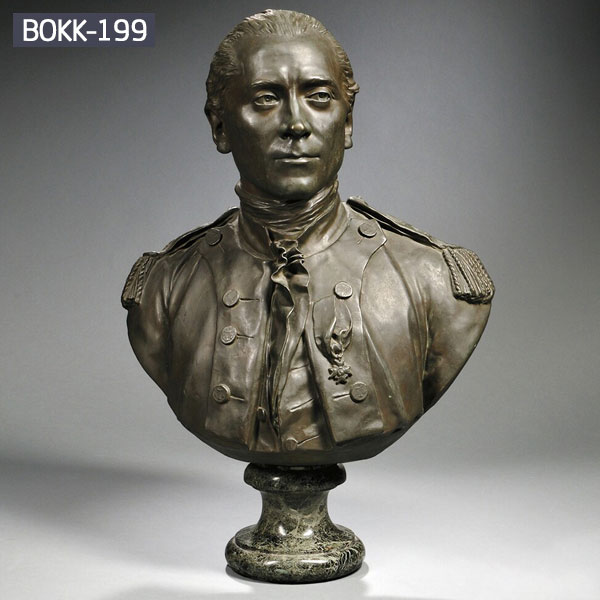 Military head bust bronze casting for sale