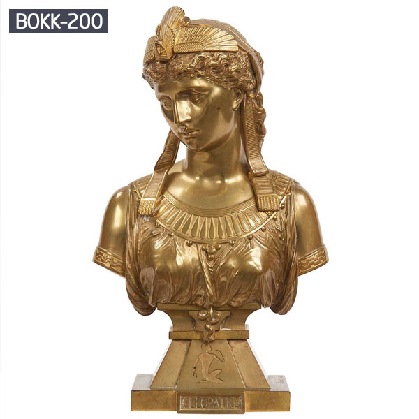 Brass Greek lady head decorative bust statues for home decor
