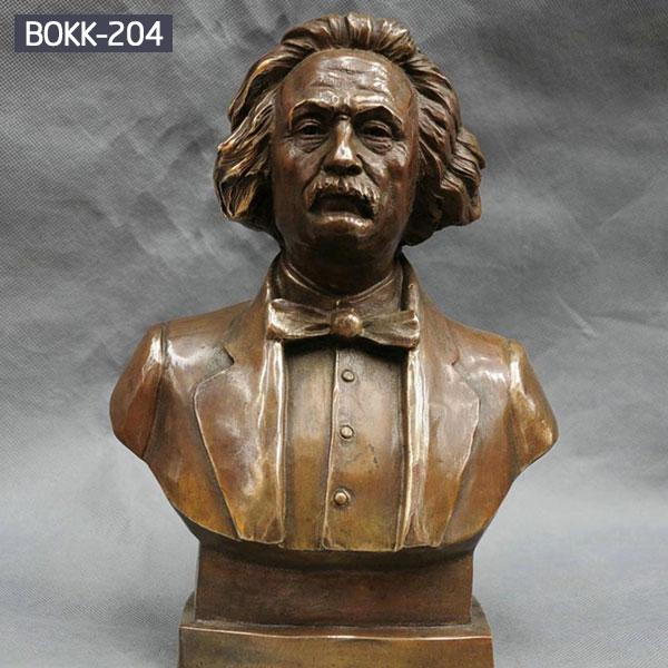 Classical bust Einstein head sculpture metal bronze casting