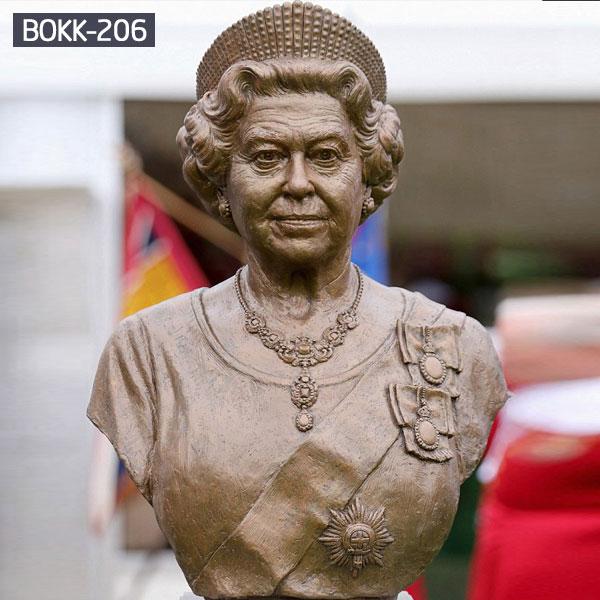 Bronze custom made the British Queen Elizabeth female bust statue for sale