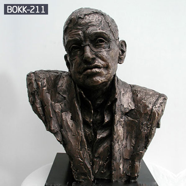 Bespoke bronze bust Stephen William Hawking head statues for sale