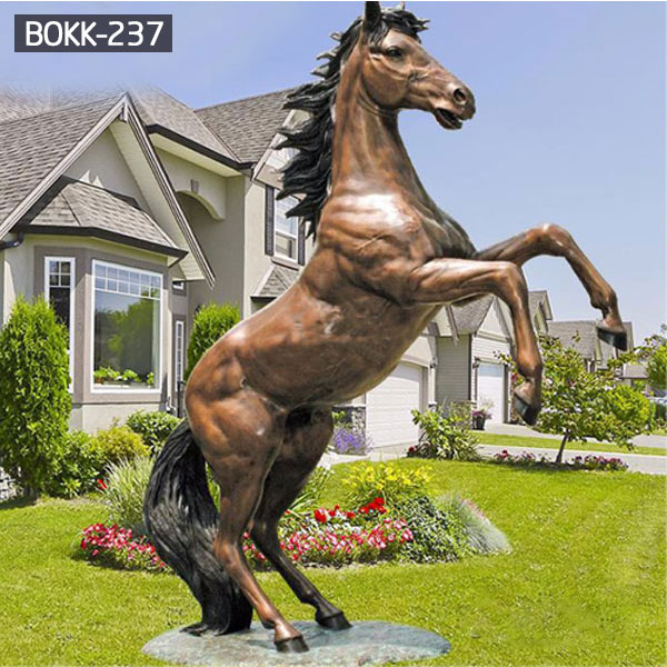Life size brass rearing horse garden bronze statues to buy