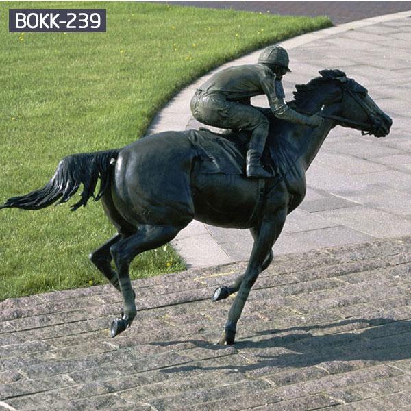 Vintage bronze horse and jockey sculpture Uk costs
