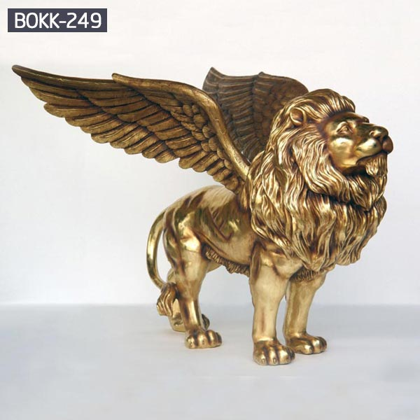 Golden winged lion bronze lawn statues outdoor prices