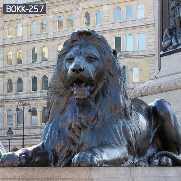 Outdoor sitting roaring lion wildlife animal statues for garden decor