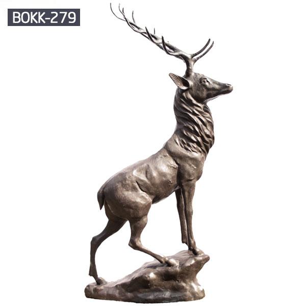 Antique bronze life size stag online sale