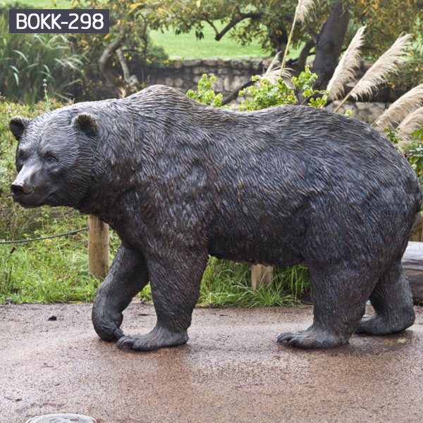 Large bronze casting bear statues for outdoor garden decor