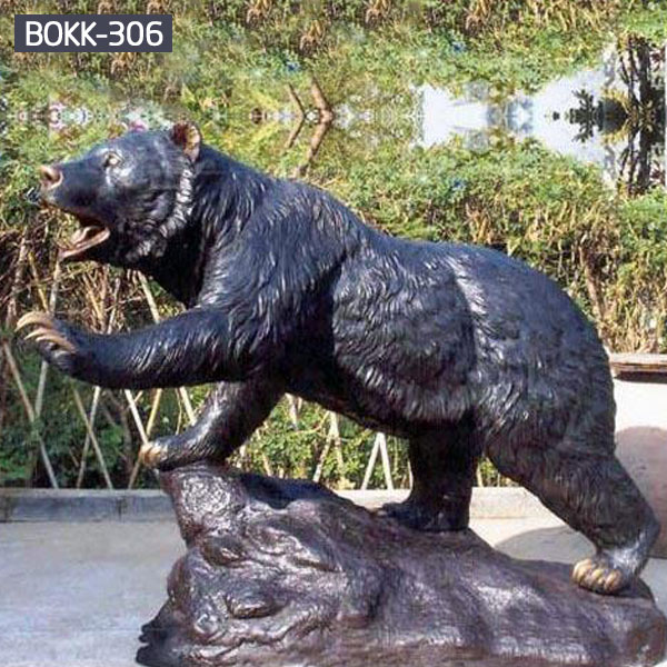 Large polar bronze life size bear yard statues costs