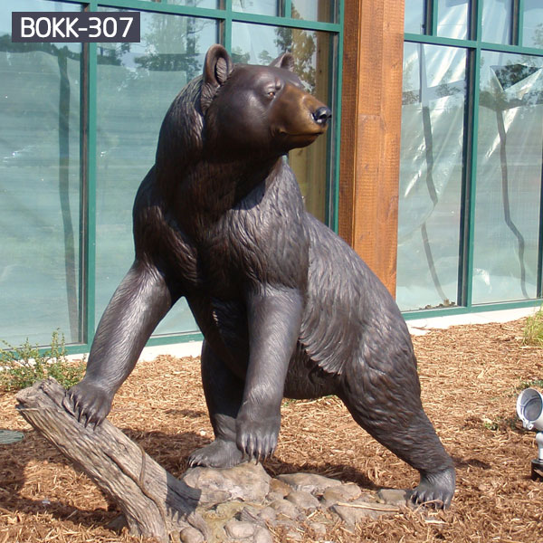 Outdoor polar yard statues bronze casting metal statues for sale