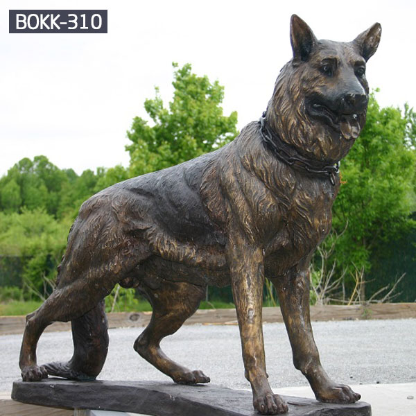 Life size brass hunting dog garden statues costs