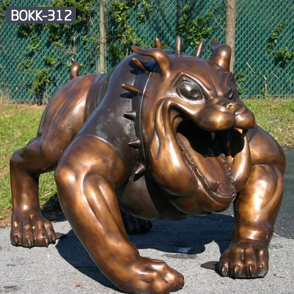 Online sale full size bulldog giant animal statues for garden