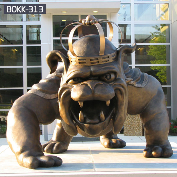 Outdoor large bulldog bronze garden art statues to buy