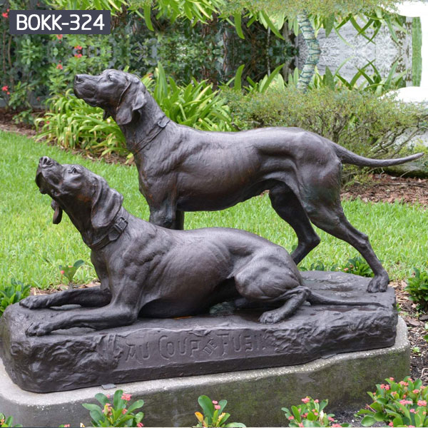 Large garden lawn decoration bronze animal statues of dog for sale