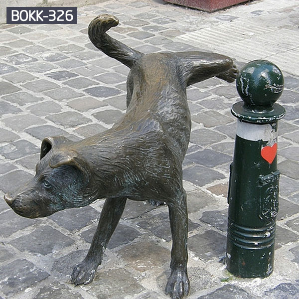 Custom made peeing dog bronze statues online sale