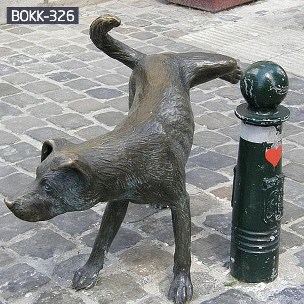 Custom made peeing dog bronze statues online sale