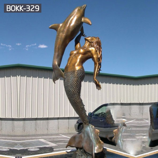 large bronze mermaid statue outdoor for sale