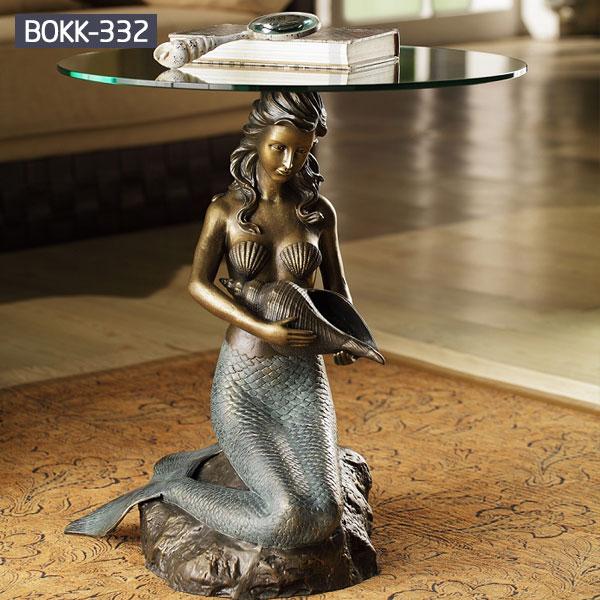 Home decor bronze metal art mermaid statues for sale