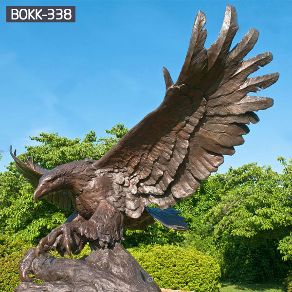 Metal lawn decor american bald eagle statue for sale