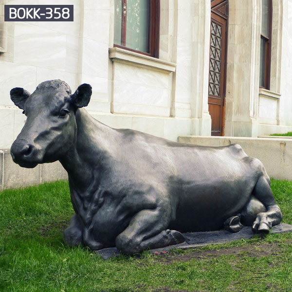 Outdoor lawn ornaments large bronze cow statues to buy