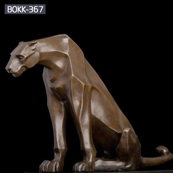 Metal bronze casting leopard wildlife animal statues for sale