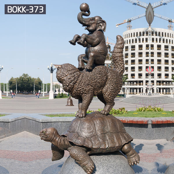 Geneisha and turtle bronze casting outdoor lawn decoration