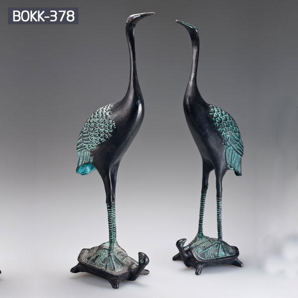 A pair of bronze art crane garden decor price