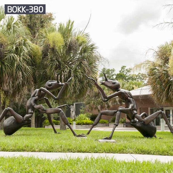 Giant ant bronze casting lawn ornaments for sale