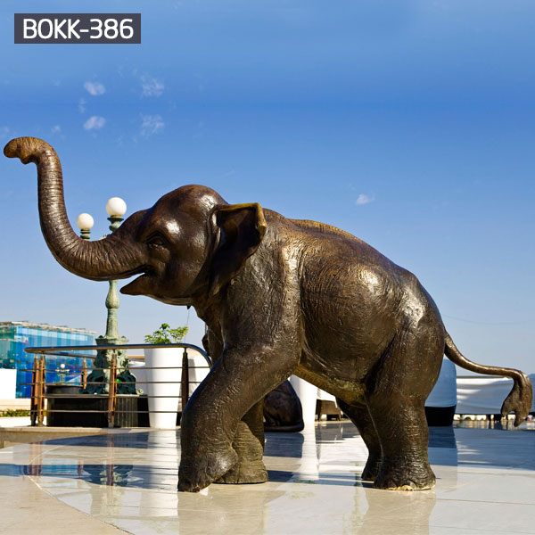 Life size bronze casting elephant sculpture for the center of square