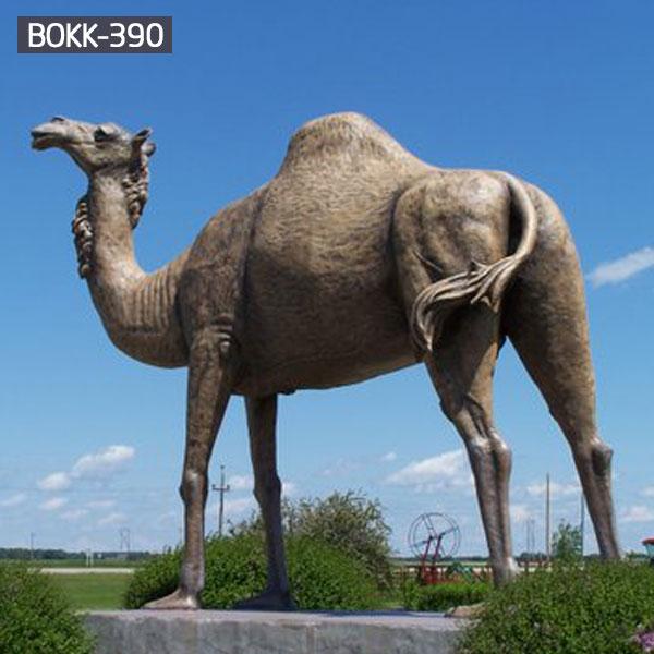 Life size bronze casting camel outdoor garden decor