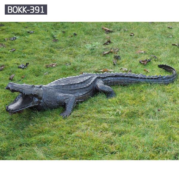 Bronze lawn ornaments lizard metal sculpture outdoor