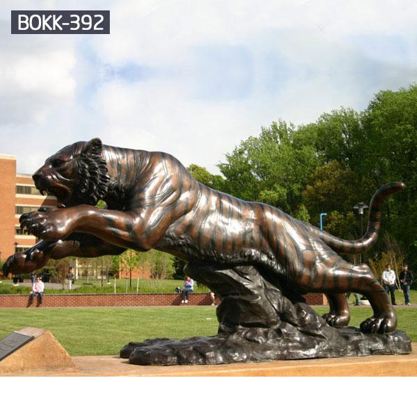 Life size bronze tiger outdoor garden wildlife sculptures costs